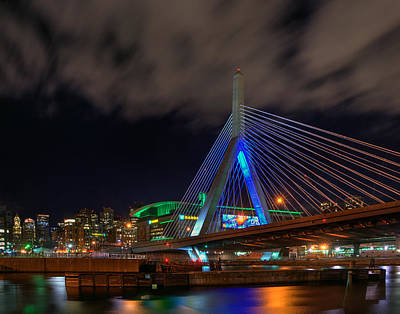 Photograph - Boston At Night 438 by Jeff Stallard