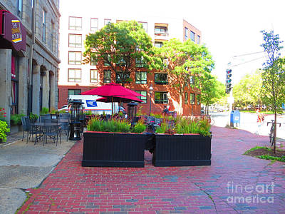Photograph - Boston August 2015 Streets Well Decorated In Festive Mood To Receive The Guests by Navin Joshi
