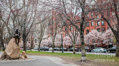 Boston Back Bay In Spring Art Print by Edward Fielding