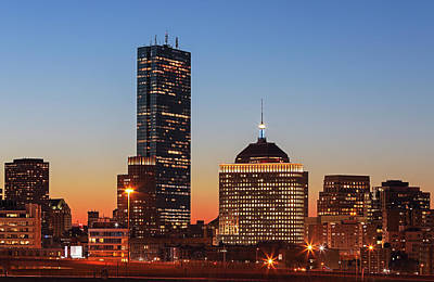 Photograph - Boston Back Bay Sunset by Juergen Roth