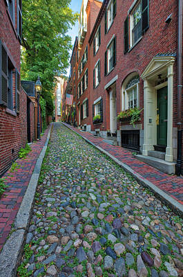 Photograph - Boston Beacon Hill Acorn Street by Juergen Roth