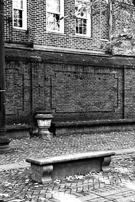 Photograph - Boston Bench Bw by John Rizzuto
