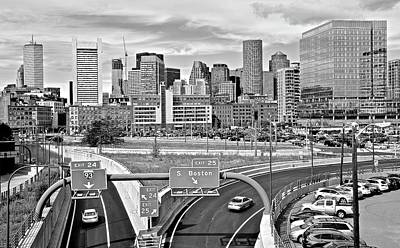 Photograph - Boston Black And White 2016 by Frozen in Time Fine Art Photography