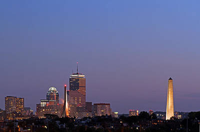 Photograph - Boston Blue Hour by Juergen Roth