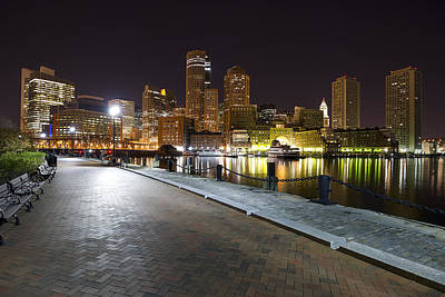 Charles River Photograph - Boston Boardwalk by Shane Psaltis