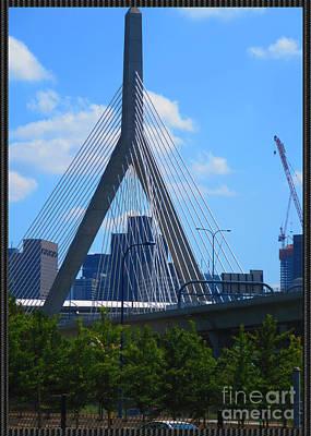 Photograph - Boston Bridges A Different Angle by Navin Joshi