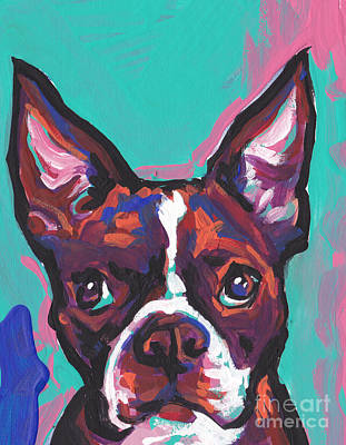 Terrier Art Painting - Boston Brown by Lea S
