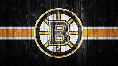 Boston Bruins Mixed Media - Boston Bruins Barn Door by Dan Sproul
