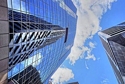 Photograph - Boston Building Reflection Boston Ma by Toby McGuire