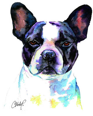 Painting - Boston Bulldog Portrait by Christy Freeman Stark