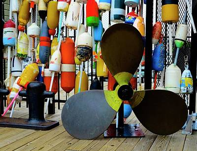 Photograph - Boston Buoys by Corinne Rhode