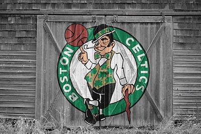 Boston Celtics Barn Doors 2 Art Print by Joe Hamilton