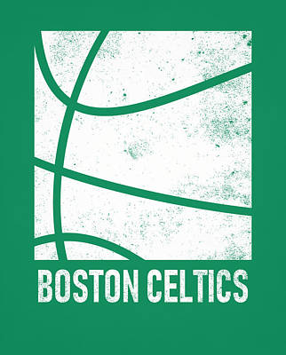 Mixed Media - Boston Celtics City Poster Art 2 by Joe Hamilton
