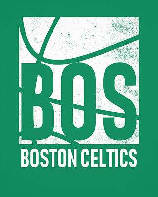 Mixed Media - Boston Celtics City Poster Art by Joe Hamilton