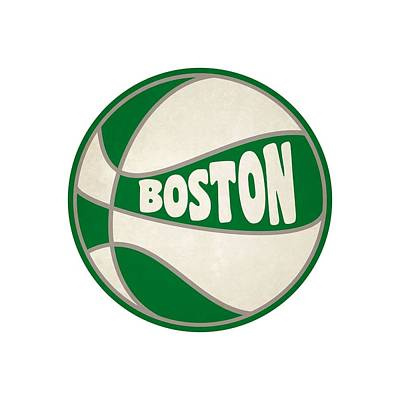 Boston Celtics Retro Shirt Art Print by Joe Hamilton