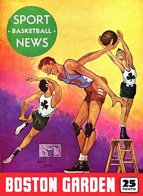 Boston Celtics Vintage Program Art Print by Big 88 Artworks