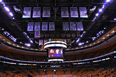 Photograph - Boston Championship Banners by Mike Martin