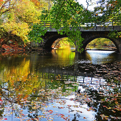 Photograph - Boston Charles River Four Seasons Fall Newton Upper Falls by Toby McGuire