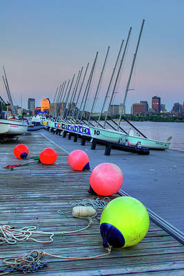 Photograph - Boston Charles River Mit Sailing by Joann Vitali
