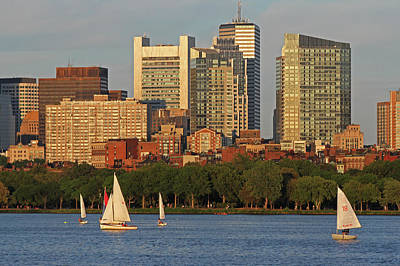 Photograph - Boston Charles River Sailing by Juergen Roth