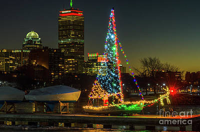 Photograph - Boston Christmas by Mike Ste Marie