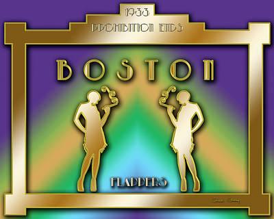 Digital Art - Boston Prohibition by Chuck Staley