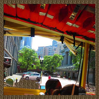 Boston City Bus Tour N Duck Tour On Lake Photography View Windows By Navinjoshi Fineartamerica Pixel Art Print by Navin Joshi