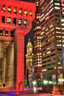 Photograph - Boston City Hall And The Custom House by Joann Vitali