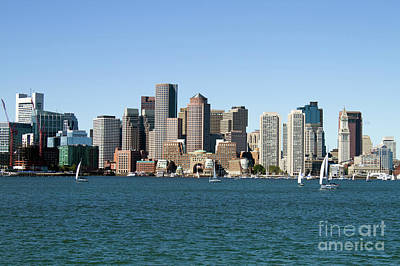 Photograph - Boston City Skyline by Steven Frame