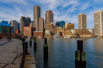 Photograph - Boston Cityscape From The Seaport District by Brian MacLean