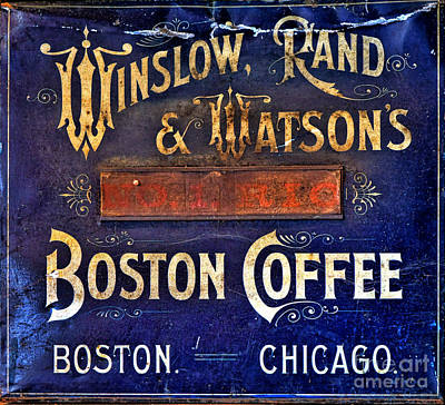 Watson Photograph - Boston Coffee by Olivier Le Queinec