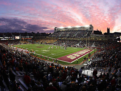 Bc Photograph - Boston College Alumni Stadium by John Quackenbos