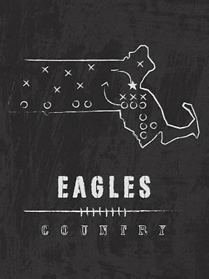 Boston College Eagles / Ncaa College Football Art / Chestnut Hill Massachusetts Art Print by Damon Gray