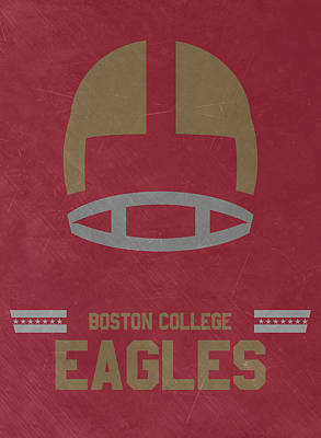 Mixed Media - Boston College Eagles Vintage Football Art by Joe Hamilton