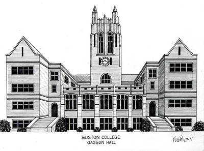 Drawing - Boston College by Frederic Kohli