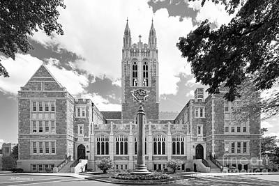 Special Photograph - Boston College Gasson Hall by University Icons