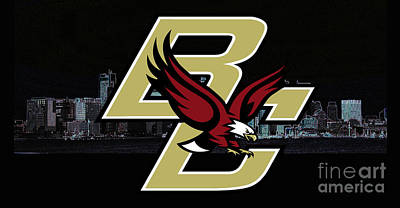 Digital Art - Boston College by Steven Parker