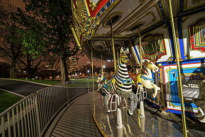 Photograph - Boston Common Carousel Boston Ma by Toby McGuire