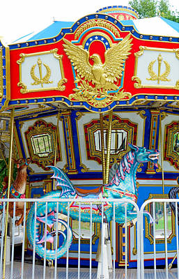 Photograph - Boston Common Carousel Study 2 by Robert Meyers-Lussier