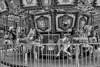 Photograph - Boston Common Carousel Study 3 by Robert Meyers-Lussier