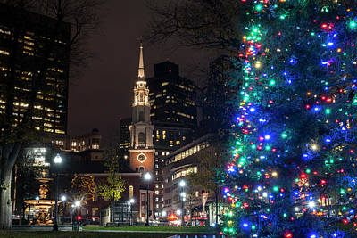 Photograph - Boston Common  Christmas Tree by Toby McGuire