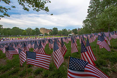 Photograph - Boston Common Flags by Brian MacLean