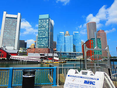 Photograph - Boston Cultural Connector Infrastructure Urban Landscape Skyline Navinjoshi Fineartamerica Pixels by Navin Joshi