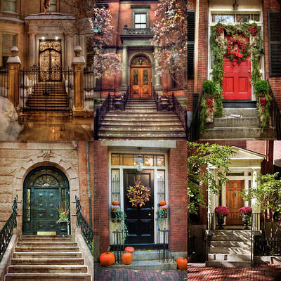 Photograph - Boston Doorways - Beacon Hill by Joann Vitali
