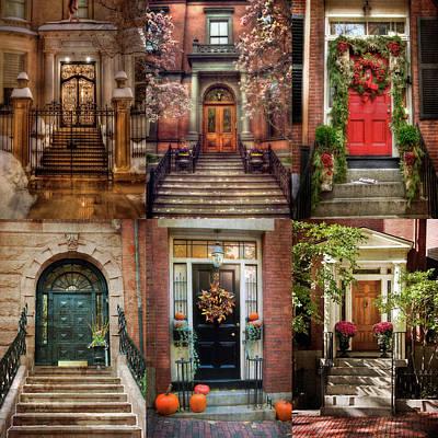 Photograph - Boston Doorways - Beacon Hill by Joann Vitali