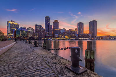 Boston - Fan Pier Sunset Art Print by Ryan McKee