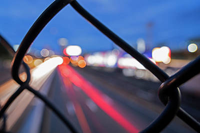 Fenway Park Photograph - Boston Fence Abstract Mass Pike by Toby McGuire