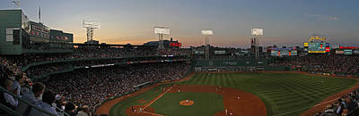 Photograph - Boston Fenway Park Sunset by Juergen Roth