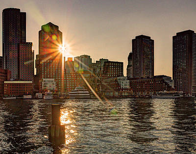 Photograph - Boston Financial At Sunset 373 by Jeff Stallard