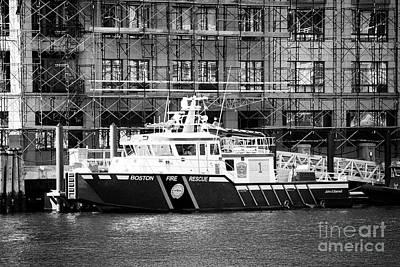 Fireboat Photograph - Boston Fire Rescue Fireboat John S Damrell Usa by Joe Fox